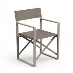 Folding outdoor chair in aluminium - Chic Director