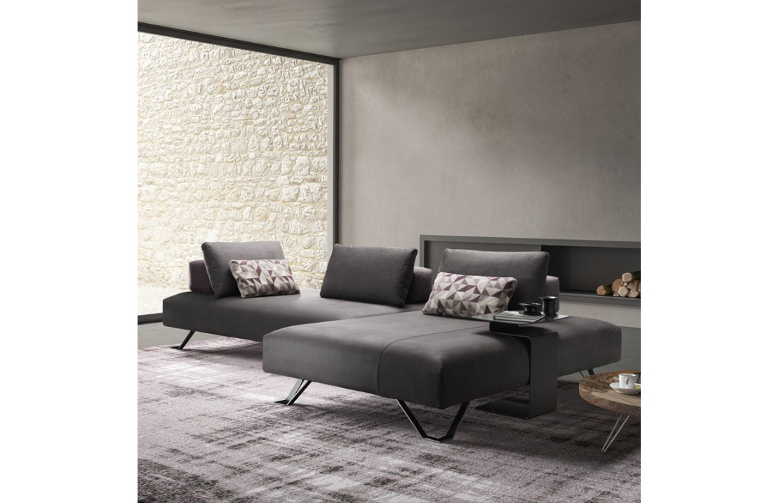 Padded sofa with side table - Jest Fancy