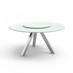 Round outdoor table in...