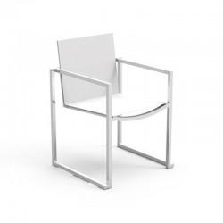 Outdoor stackable armchair in aluminium - Essence