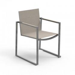 Outdoor stackable armchair in steel - Essence