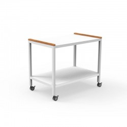 Serving cart in aluminium...