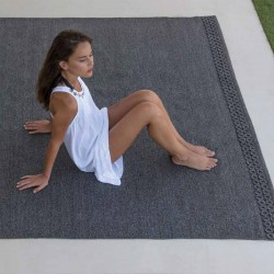 Outdoor synthetic fiber carpet - Quadro