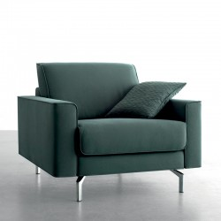 Armchair in fabric or eco-leather upholstery - Spirit
