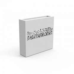 Stone steel planter with decoration by laser technology