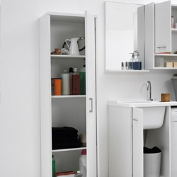 Storage laundry cabinet with shelves - Domestica