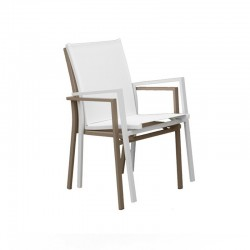 Outdoor stackable armchair in fabric - Maiorca