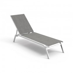 Stackable sun lounger with adjustable back - Step