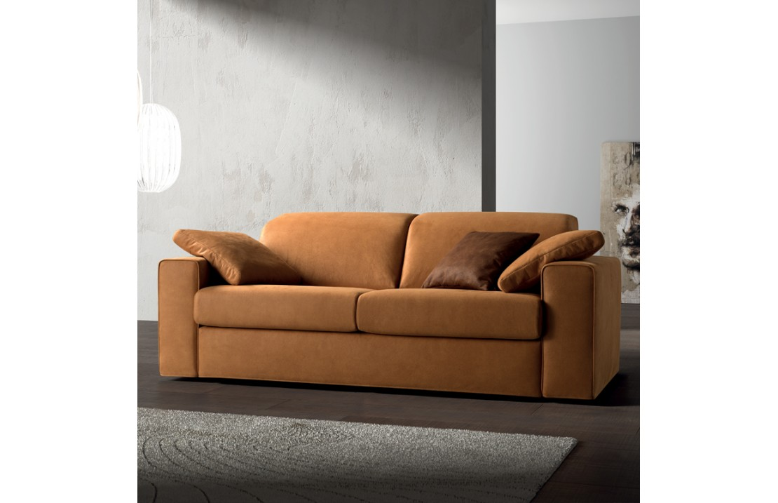 One padded sofa with reclining headrest