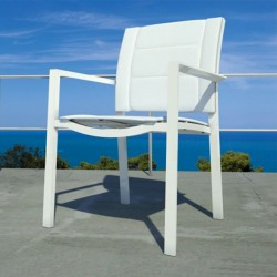 Outdoor stackable chair in fabric - Touch