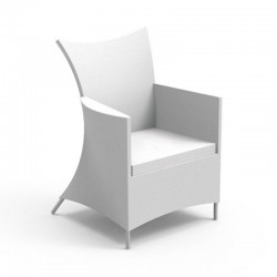 Luxury outdoor chair in fabric - Touch
