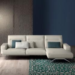 Posch Line padded sofa with reclining headrest