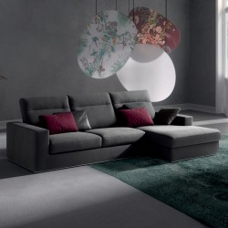 Posh Bold padded sofa with reclining headrest