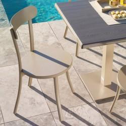 Outdoor chair in aluminium...