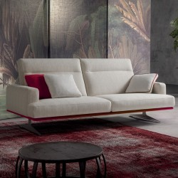 Posh Line 02 padded sofa with reclining headrest