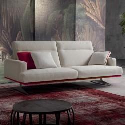 Posh Line 02 padded sofa with reclining headrest