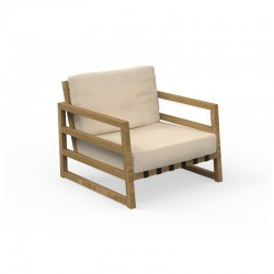 Outdoor armchair in wood...