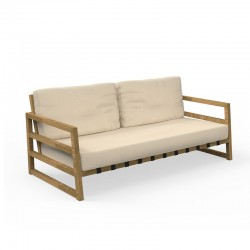 Outdoor sofa in wood and...