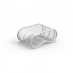 Outdoor coffee table in steel - Breez - design by Karim Rashid