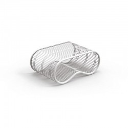 Tavolino da esterno in acciaio Breez - design by Karim Rashid