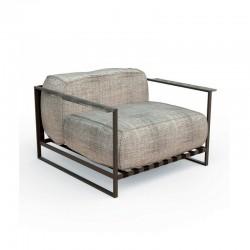 Outdoor armchair in steel and fabric - Casilda