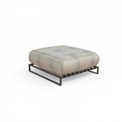 Outdoor pouf in steel and...