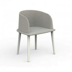 Sedia imbottita da esterno in alluminio e tessuto - Cleo