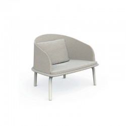 Outdoor lounge armchair in aluminium and fabric - Cleo