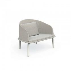 Sedia lounge da esterno in alluminio e tessuto - Cleo