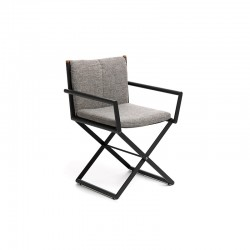 Outdoor folding chair in fabric - Domino