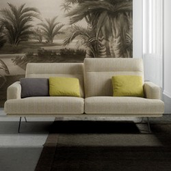Padded sofa with reclining headrest - Posh Line 03