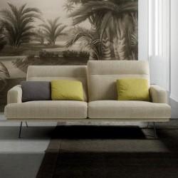 Padded sofa with reclining headrest - Posh Line 03