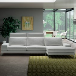 Padded sofa with adjustable backrest - Upper Tidy
