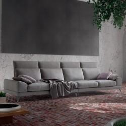 Padded sofa with adjustable backrest - Upper Top