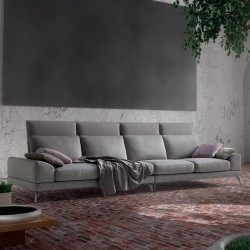 Padded sofa with adjustable backrest - Upper Top