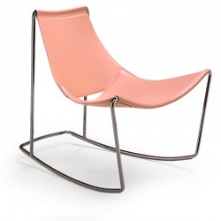 Rocking chair with leather covered - Apelle Dn