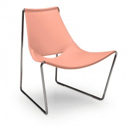 Lounge chair with hide covered - Apelle AT