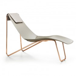 Chaise longue in leather - Apelle