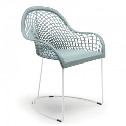 Hide chair with armrests -...