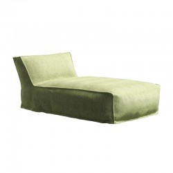 Padded chaise lounge for...