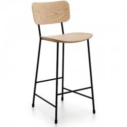 Wood stool H.65/75 cm - Master