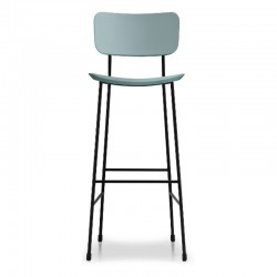 Leather stool H.65/75 cm -...