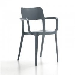 Polypropylene chair with armrests - Nenè