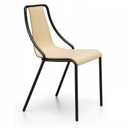 Sedia impilabile con scocca in legno - Ola