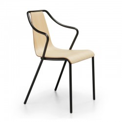 Stackable wood chair with...