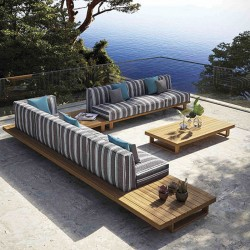 Garden sofa in teak wood -...