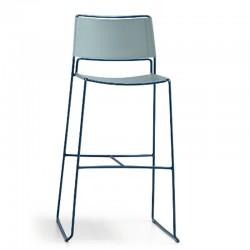 Leather stool H66/H76 - Slim