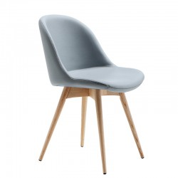 Padded chair wit wood base - Sonny