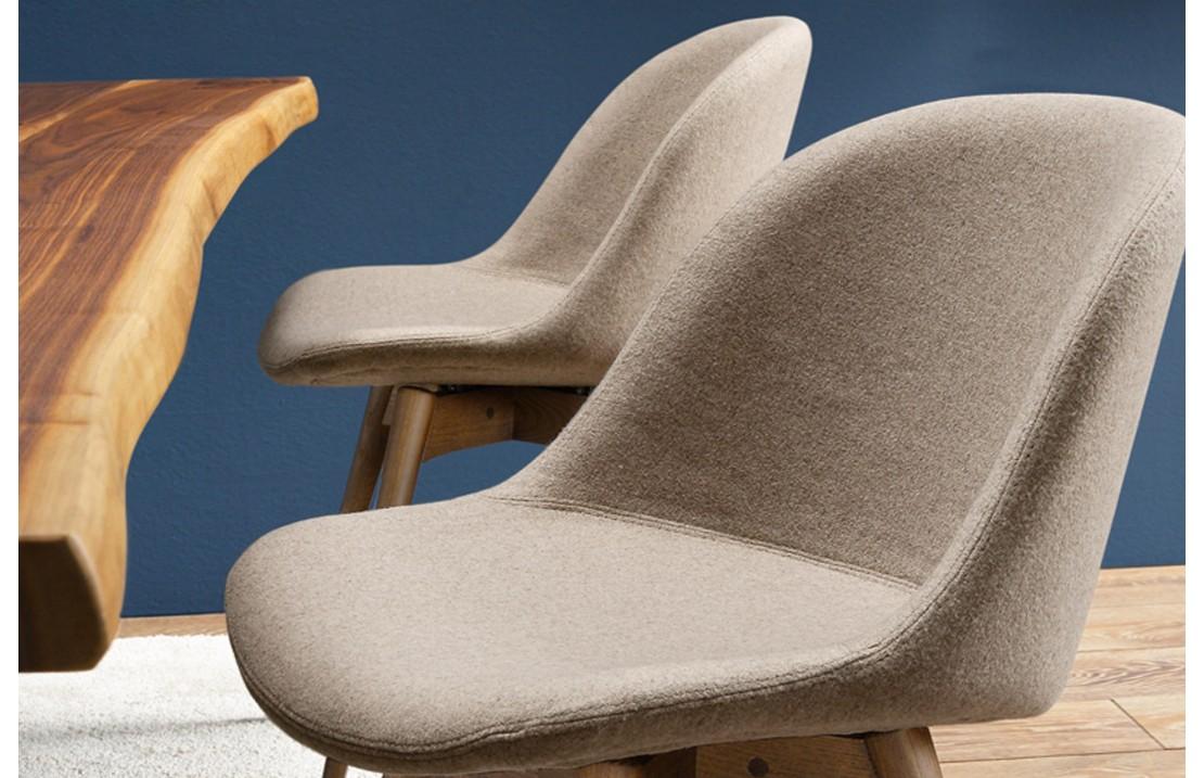 Sedia imbottita con gambe in legno - Sonny - ISA Project
