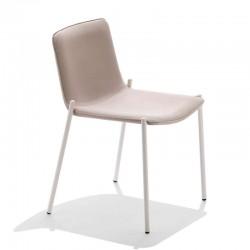 Sedia imbottita con base in acciaio - Trampoliere
